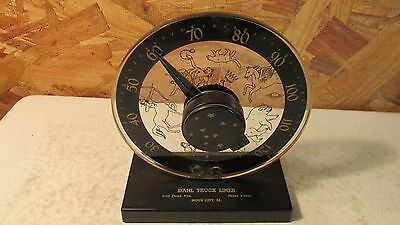 Vintage Dahl Truck Lines Sioux City Astrology Desk Thermometer