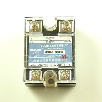 D4860 SSR Solid State Relay DC-DC 3-32V DC Input ~ 24-480V AC 60A