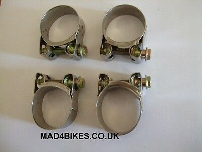 Yamaha Xj 900 Diversion Stainless Steel Exhaust Clamps Xj900 X 4 Clamps