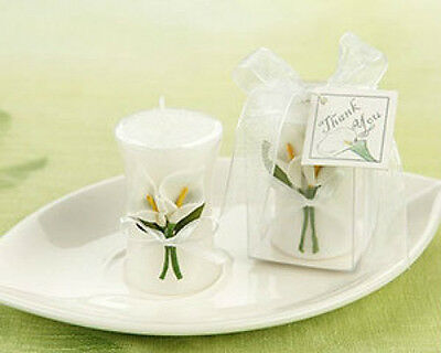 Calla Lily Vase Shaped Candle Wedding Favors