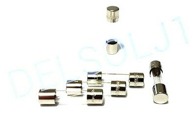 LOT OF 5 GMA-1A BUSS BUSSMANN FUSES 1A 250V 5mm x 20mm FAST BLOW
