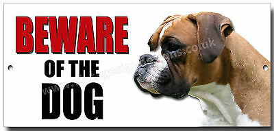 "Boxer ""beware Of The Dog"" Metal Sign,dog Breeds,security Sign."