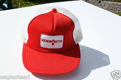 Ball Cap Hat - Kenworth - Red White - Truck Tractor Trucking (H890)