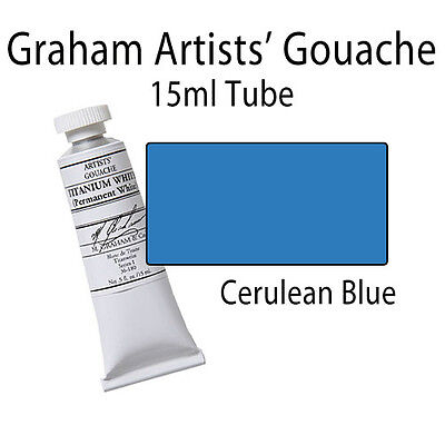 M. Graham Artists' Gouache Cerulean Blue  15ml Tube 36-080