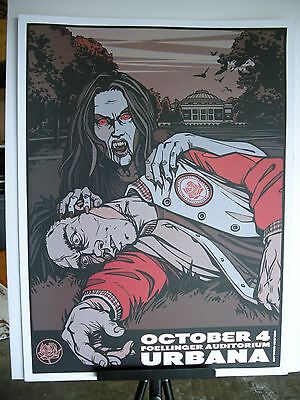 2007 Ryan Adams Urbana Follinger Auditorium Tour Concert Vampire Poster Holder