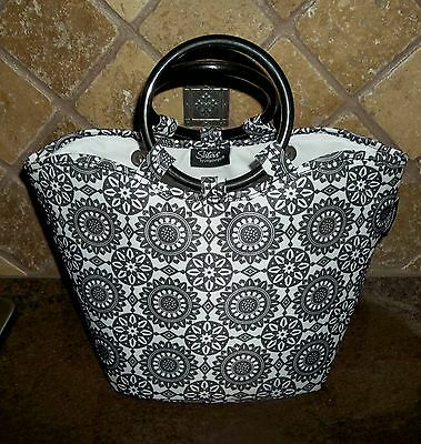Longaberger Insulated Stay Cool Lunch Bag / Tote in Black Medallion - Orig. $29