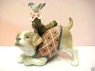 Blossoms For The Puppy Dog Figurine By Lladro #8381