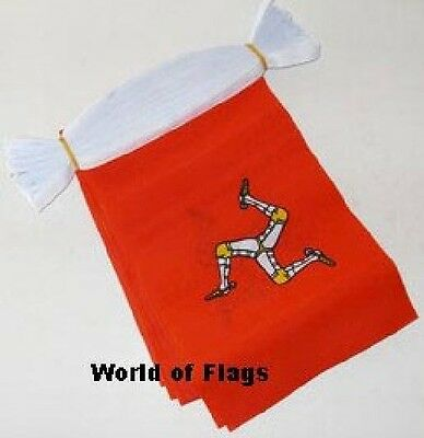 ISLE of MAN BUNTING Manx Flag IOM 9m 30 Polyester Party Flags TT Racing 9 Metres