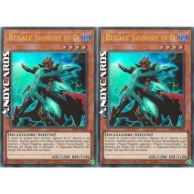2x REGALE SIGNORE DI D. (The King Of D.) • Ultra R • LC06 IT002 Yugioh ANDYCARDS