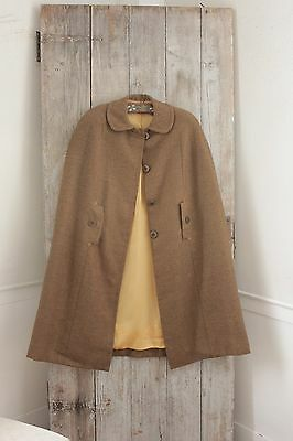 Vintage wool French cape Twill weave country coat cape