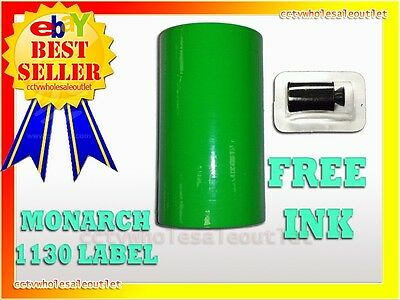 Fluorescent Green Label For Monarch 1130 Pricing Gun 1 Sleeve=8Rolls