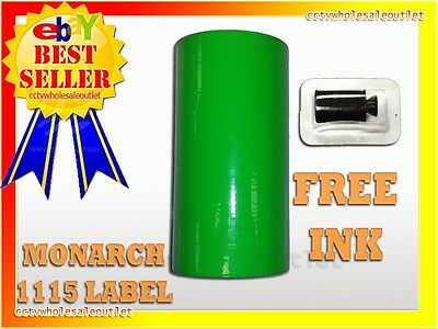 Fluorescent Green Label For Monarch 1115 Pricing Gun 1 Sleeve=10Rolls