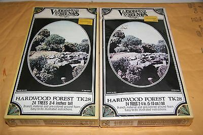 Woodland Scenics  2 Pcs #28 Hardwood Forest Kit New