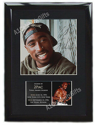 2Pac FRAMED  Signed Mounted Photo Display #1