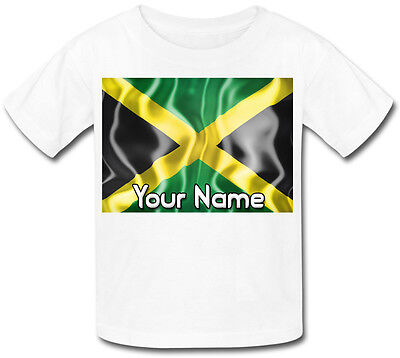 Jamaica Jamaican Flag Personalised Kid's Sublimation T-Shirt - Named Childs Gift