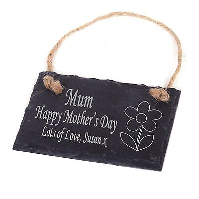 Personalised Engraved Slate Plaque/Sign Mum Mummy - 1st Mothers Day Gift