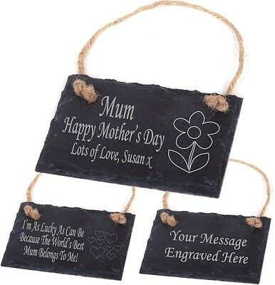 Personalised Engraved Slate Plaque/Sign Mothers Day Gift / Present