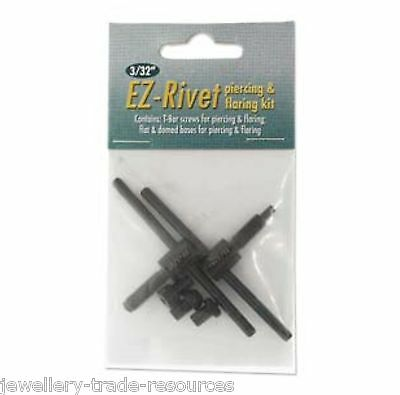 "Beadsmith Ez-rivet 3/32"" Metal Hole punch And Rivet Tool Kit Accessory set"