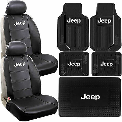 Jeep Mopar Elite Sideless Seat Covers Front Rear Cargo Rubber Mats Universal