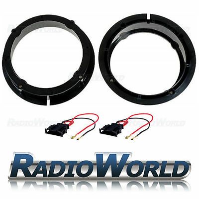 VW Golf Bora / Beetle Front Rear Door Speaker Adaptors Rings Spacers 165mm 6.5""