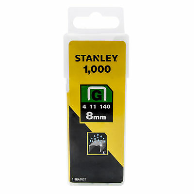 Pack of 1000 Heavy Duty 8mm Stanley Staples Type G, 4, 11, or 140