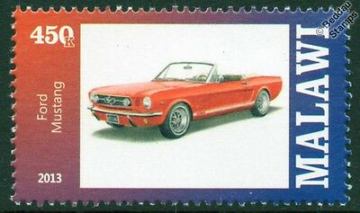 FORD MUSTANG Convertible Car Automobile Mint Stamp