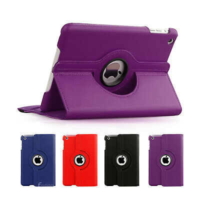 iPad Mini 3 2 1 Case Premium 360 Rotating Smart Leather Cover Pouch For Apple