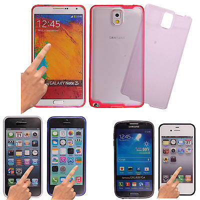 New Stylish Touchable Full Body Front And Back Bumper Gel Case Cover For Mobile