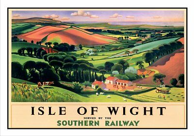 Isle Of Wight Railway Vintage Poster / Print Superb Quality