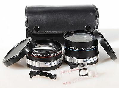Telephoto And Wide Angle Lens, Set For Canon Sureshot 2 Af35Mii With Case