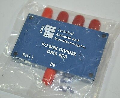 Technical Research and Manufacturing Power Divider Splitter Model# DMS-405