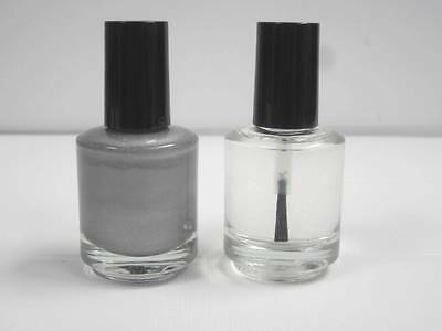 1/2 Oz GM Touch Up Paint w Clear Coat Dupont WA8867 / 96, B8795 Silver Effect