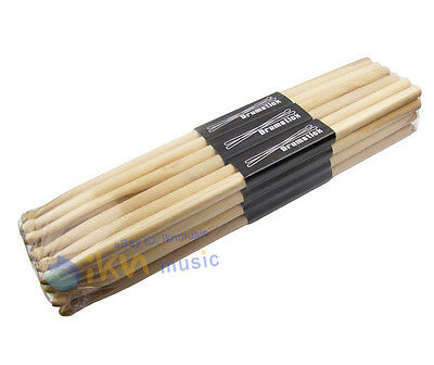 Pack of Fleet 12Pairs OAK 5A Wood Drum Sticks OAK Sticks