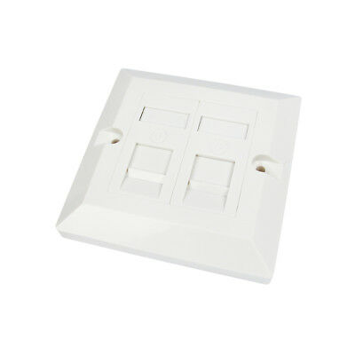 RJ45 Face Plate Wall Socket Cat6 Ethernet Single Gang 2 Port with Keystones
