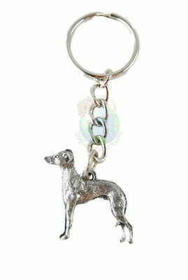 Italian Greyhound Keychain Pewter
