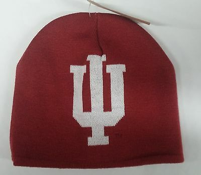 Indiana Hoosiers Knit Beanie Toque Winter Hat skull cap Reversible Adidas Red