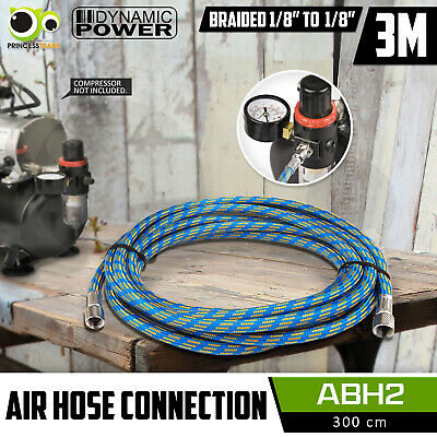 "3M Air Hose Flexible Rubber Braided Air Brush Compressor 1/8"" to 1/8"" Connection"