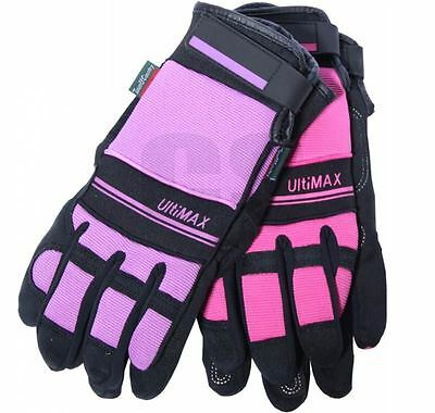 Town & Country Tgl223M Ultimax Gardening Garden Ladies Gloves Pink / Purple