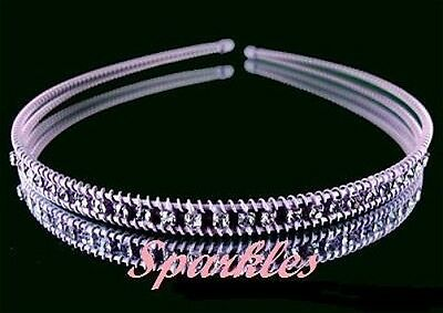 Beautiful Rhinestone Tiara/Headband- Brand New T30