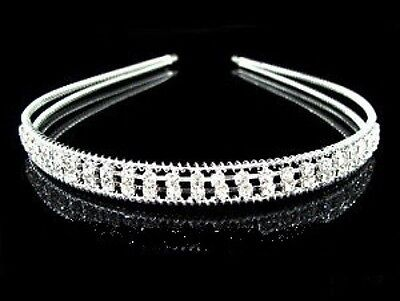 Beautiful 2 Row Crystal Tiara/Headband- Brand New T21