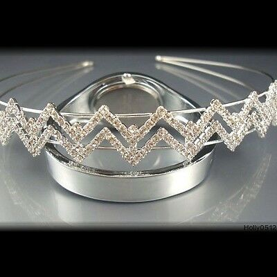 Beautiful Rhinestone Crystal  Tiara/Headband- Brand New T12