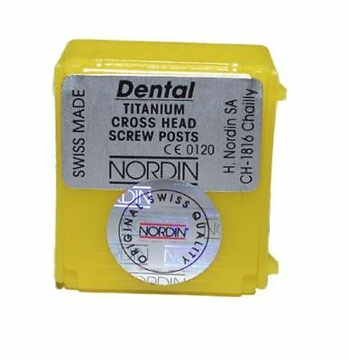 Dental Screw Post by * NORDIN * Refill Kit 6 posts ( Titanium ) Medium Size M4