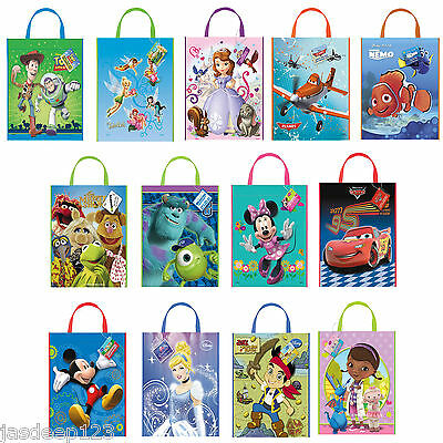 Disney Characters Party Tote Gift Bags Childrens Birthday Supplies Loot
