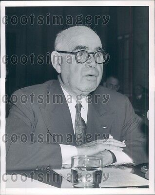 1952 NY Senator Herbert Lehman Foreign Relations Committee Press Photo