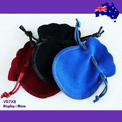 100 DOUBLE Sided Jewellery Gift Pouch Bag-7x8cm-Velvet | AUSSIE Seller