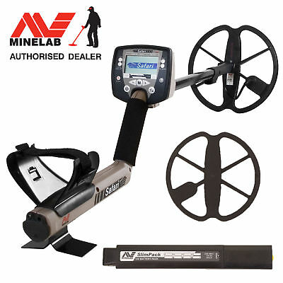 """Minelab Safari Metal Detector with 11"""" DD Search Coil - Free Shipping"""