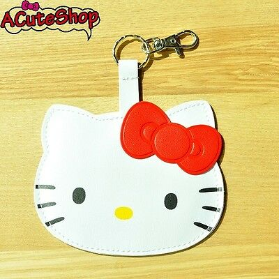 Hello Kitty Die-cut Luggage Name Tag PVC Leather Red Sanrio