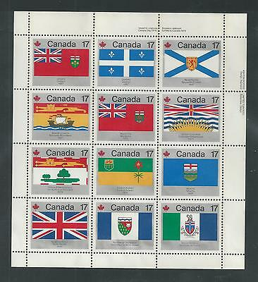 CANADA # 832a MNH PROVINCIAL & TERRITORIAL FLAGS Miniature Sheet