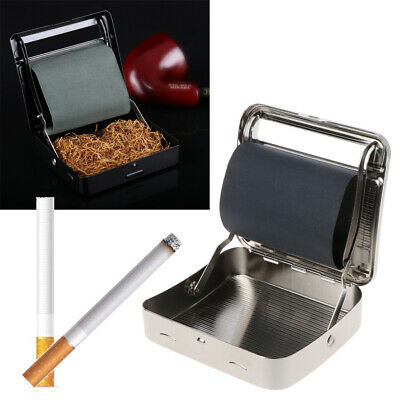 Tobacco Smoking Rolling Machine New 70mm Metal Cigarette Roller Box Automatic