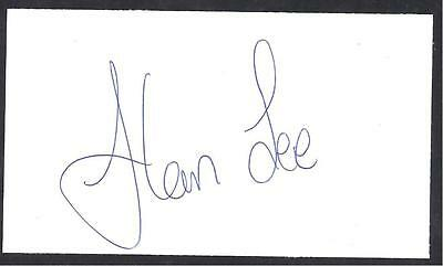 A 13cm x 7.5cm Plain White Card Signed by Alan Lee of Norwich City, Ireland